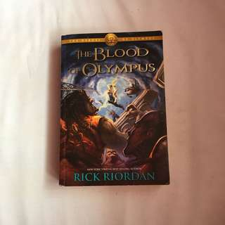 The Blood of Olympus Book by Rick Riordan