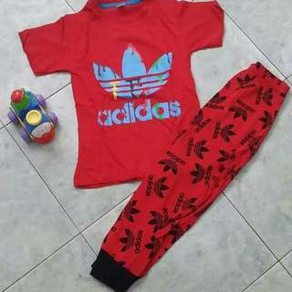 Adidas pyjamas set- red