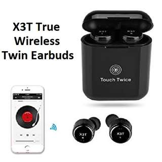 X3T True Wireless Bluetooth Mini Twin Earbuds Earpiece Headset