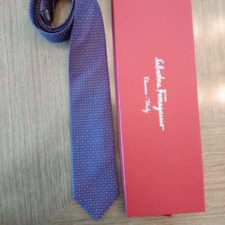Authentic Ferragamo Tie Violet