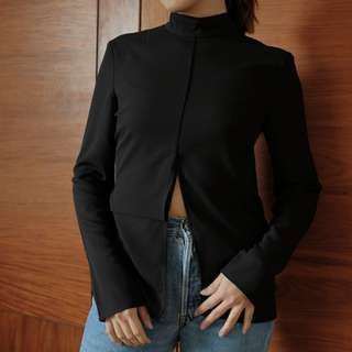 C/MEO Collective Black Top with Long Sleeves
