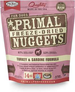 Primal Freeze Dried Canine Turkey & Sardine Nuggets