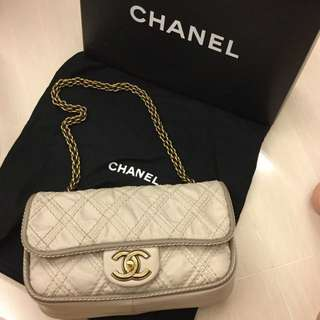 Chanel Ultimate Stitch Flap Bag limited edition in Beige grey