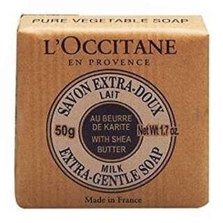 sabun mandi l'occitane loccitane original 100% 50g shea butter milk