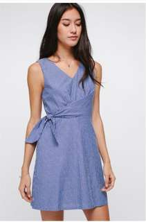 LB-Ilona Sash Pinstripe dress