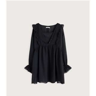 pazzo 全新黑色長上衣 black blouse