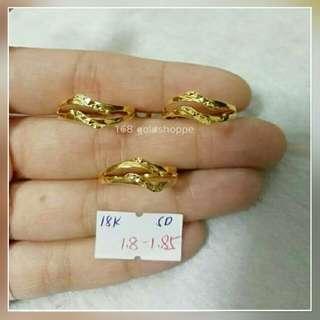 168LR036 Genuine 18k Saudi Gold Spl Ring