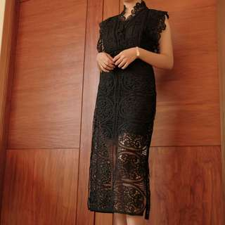 Thurley Black Lace Dress