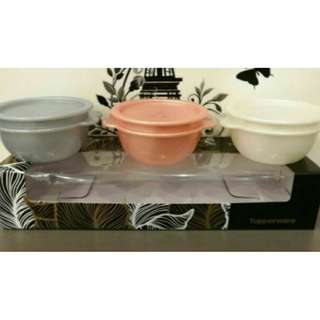 Tupperware 53rd Anniversary One Touch bowls (3) Set