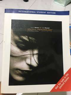 Abnormal Psychology - an Integrative Approach (5th edition) by David H. Barlow and V. Mark Durand