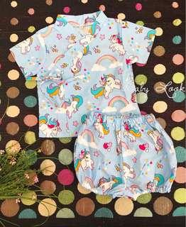 Kimono Baby Girl - Unicorn
