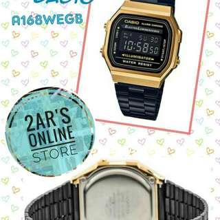 Authentic CASIO A168WEGB-1B