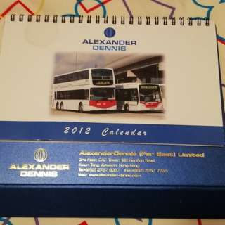 巴士迷珍藏:2012年座枱月曆