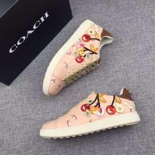 Coach C101 Sneakers with Cherry Patches