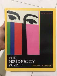 The Personality Puzzle (5th edition) by David C. Funder