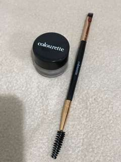 Colourette Browfessional Brow Pomade & Spoolie - Thick Chocolate