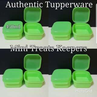 Authentic Tupperware  Mini Treats Keepers 450ml Retail Price S$12.80 《Now S$7.50/Pc》 Green keeper