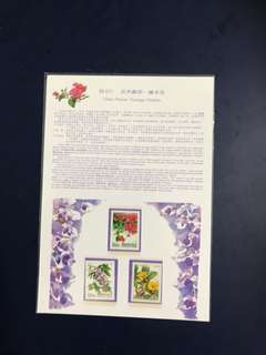 Taiwan mint set stamp Folder as in Pictures