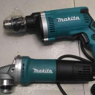 Makita Drill and Grinder
