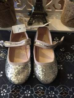 Baby GAP Silver Glittery Shoes