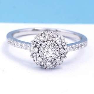 0.48ct, 18K White gold engagement ring, proposal ring, natural diamond, customisation KLSR0224