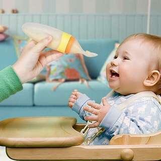 baby silicone feeding bottle