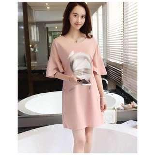 Angel Girl Ruffled Sleeve Dress Blouse
