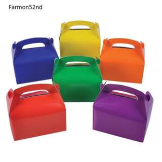 Woolworths Party Mini Treat Boxes Solid Colours 8pcs per pack