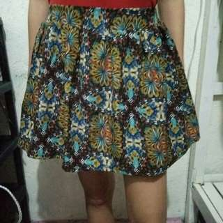 Printed bubble skirt