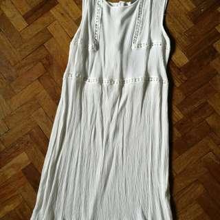 Bohemian Cream Crepe dress