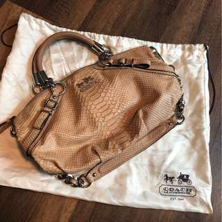 Coach dumpling shape leather tote or shoulder bag