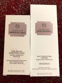 Brightening serum & sunscreen