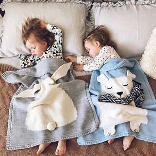 Baby Children Kids Knitted Blanket