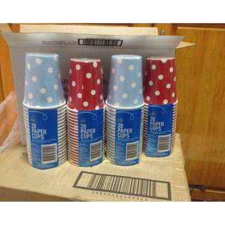 Woolworths 20pcs Polka Dots Paper Cups