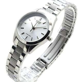 深水埗門市全新有保養正貨 鋼帶 指針 數字/ 條字面 黑面 / 白面 Casio 手錶 MTP-1274D-7A