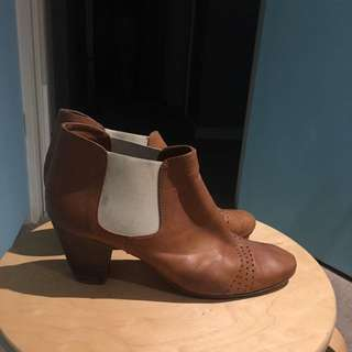 Italian leather riding ankle boots