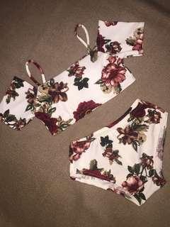 Off shoulder bikini swimsuit