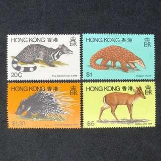 1982年香港動物郵票一套