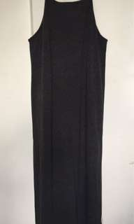 Long dress with side slits (Dark Gray)