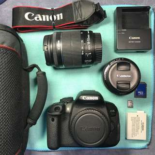 [ SOLD ] Canon EOS 700D + 18-55mm IS STM + 50mm MkII in excellent condition! CHEAP!!