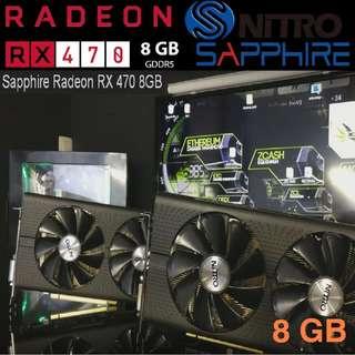 Sapphire RX 470 8G GDDR5 RADEON Mining Edition PCI-E DVI-D..(Ex-Stock) While Stock..last..!!
