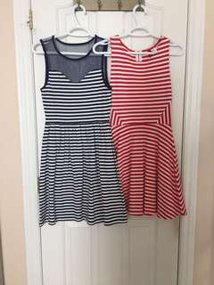 F21 striped dresses
