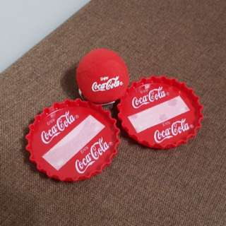 Coca-Cola Coke Velcro Catch and Toss Game Set from Year 2000