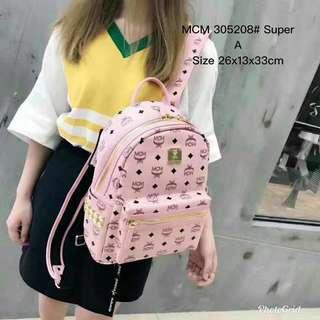 MCM men's bag women's bag rivets shoulder bag backpack