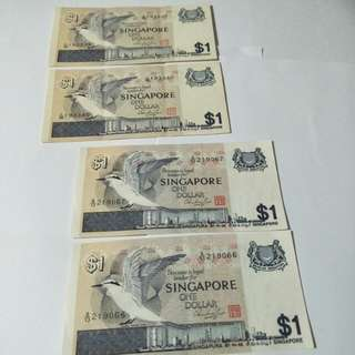 Old sg $1 Running  number  4pc x$2.50=$10
