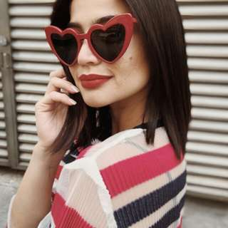 Trendy Heart Sunnies