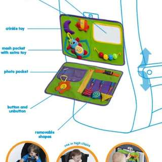 Tray busy bag for plane rides, car rides or highchair table