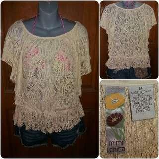 Mimi Chica Crochet Top