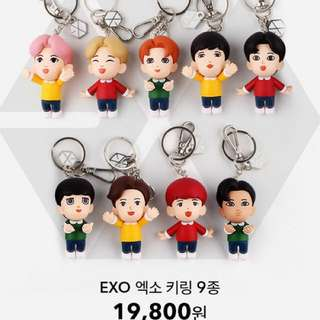 [Please order ASAP] EXO Figure Keyring + Photocard + Hand Mirror