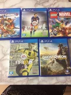 PS4 Games x6